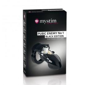 Пояс верности с электростимуляцией Mystim Pubic Enemy No1 Black Edition